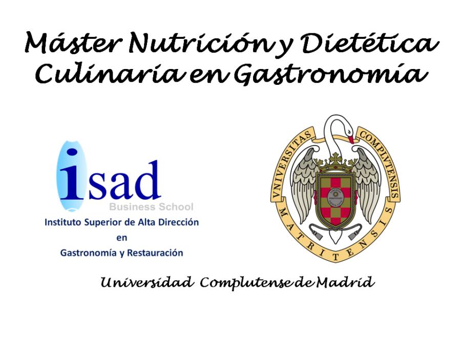 Nutrición y Dietética Culinaria en Gastronomía